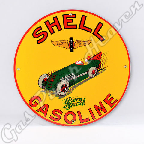 Shell Green Streak Gasoline 12