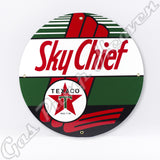 "Texaco Sky Chief 12"" Sign"