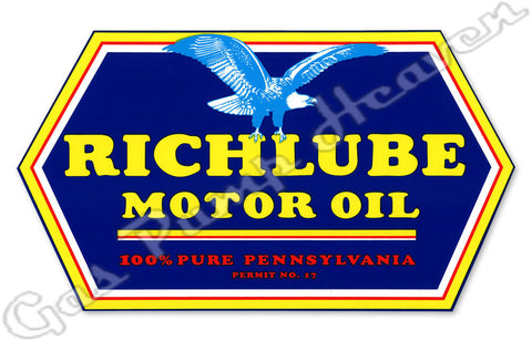 Richlube Motor Oil Decal