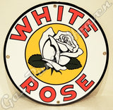 "White Rose 12"" Sign"