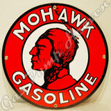 "Mohawk Gasoline 12"" Sign"