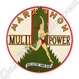 "Marathon Multi Power 30"" Sign"