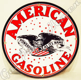 "American Gasoline 12"" Sign"