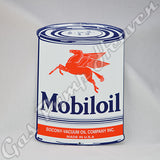 "Mobiloil ""Oil Can"" Shaped Sign"