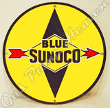 "Sunoco ""Blue"" 12"" Sign"