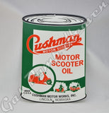 "Cushman ""Oil Can"" Shaped Sign"