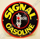 "Signal Gasoline 12"" Sign"