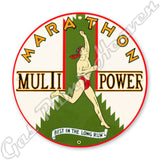 "Marathon Multi-Power 12"" Sign"