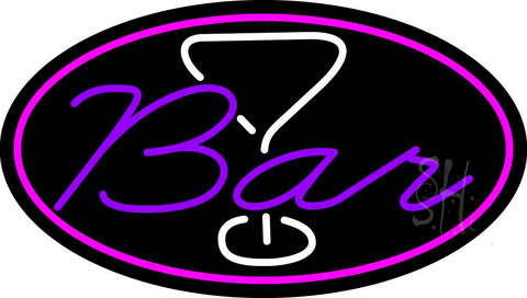 Purple Bar With Martini Glass Neon Sign 17