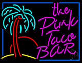 "The Pink Taco Bar Neon Sign 24"" Tall x 31"" Wide x 3"" Deep"