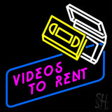 "Videos To Rent Neon Sign 24"" Tall x 24"" Wide x 3"" Deep"