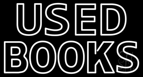 Double Stroke Used Books Neon Sign 20