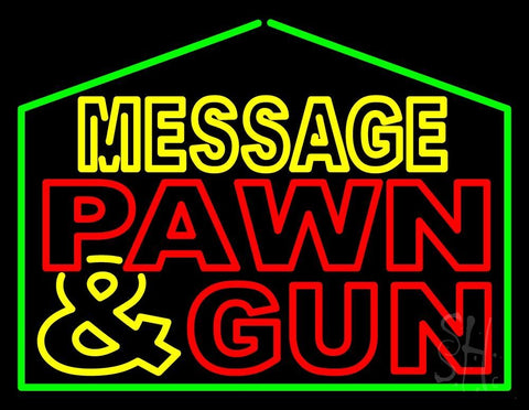 Custom Pawn And Gun Neon Sign 24