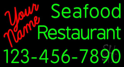 Custom Seafood Restaurant With Number Neon Sign 20