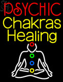 "White Psychic Chakras Healing Neon Sign 31"" Tall x 24"" Wide x 3"" Deep"