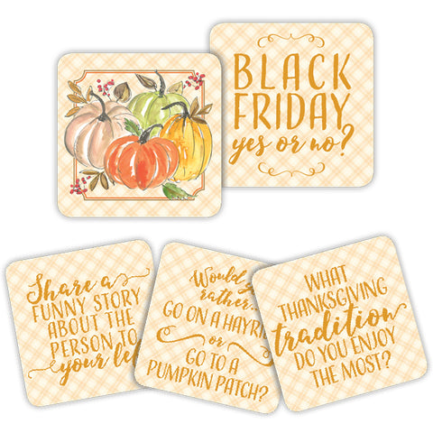 Thanksgiving Pumpkins Conversation Coasters