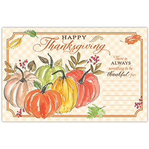 Thanksgiving Pumpkins Paper Placemats