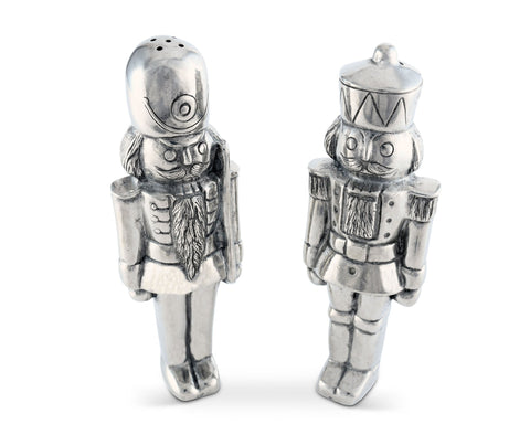 Pewter Nutcracker Salt & Pepper Set