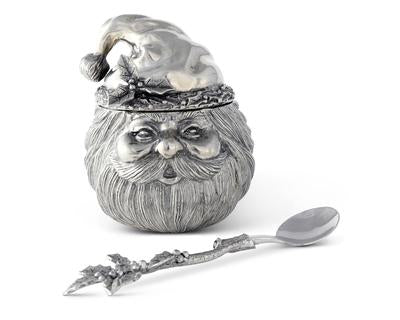 Pewter Santa Sugar Bowl
