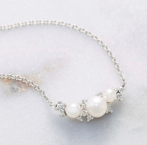 Abby Pearl & Diamond Necklace