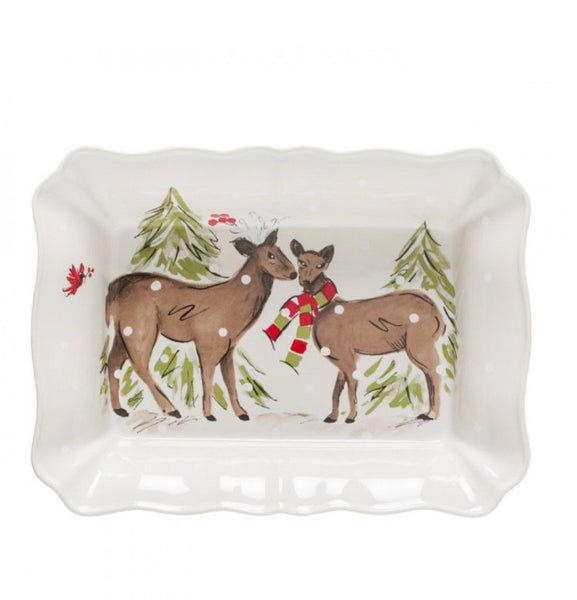 Deer Friends Large Rectangular Baker