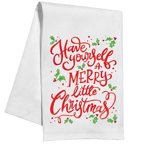 Merry Little Christmas Kitchen Towel