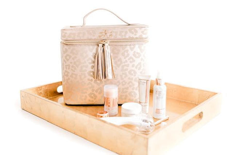 Hollis Leopard Lux Makeup Case