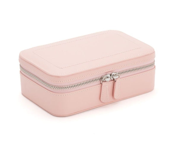 Wolf 1834 Sophia Rectangular Case In Rose Quartz