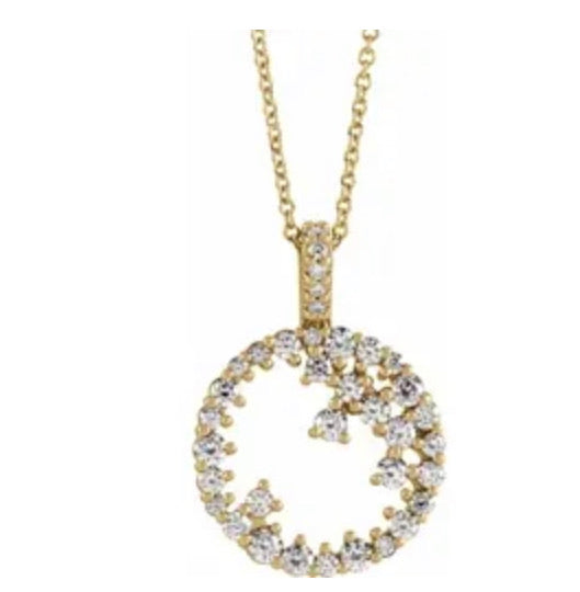 Diamond Circle Scatter Necklace