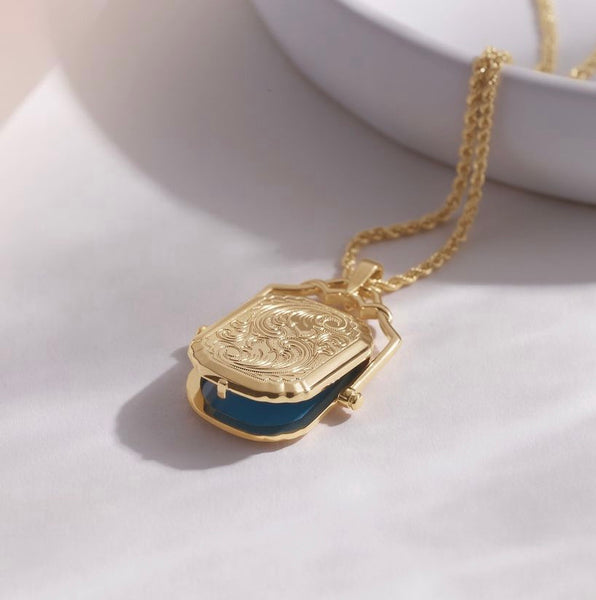 Louise Gold Swivel Locket