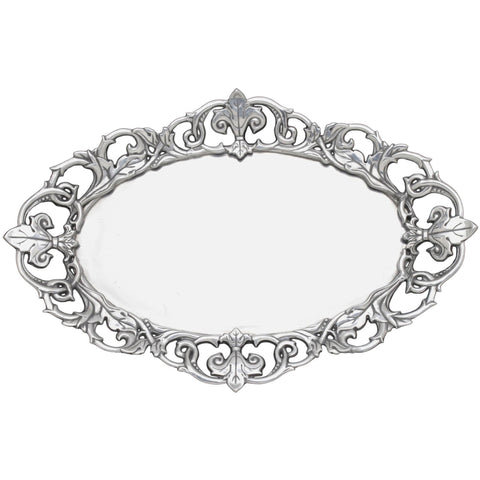 Arthur Court Fleur De Lis Oval Serving Tray