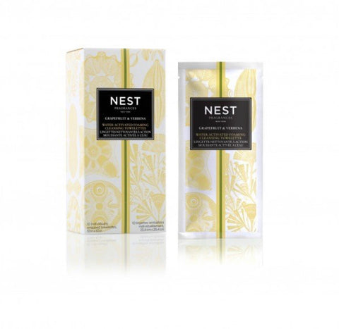 Nest Fragrances Grapefruit & Verbena Water-Activated Foaming Cleansing Towelettes