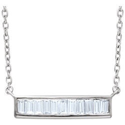 Becall Diamond Bar Necklace