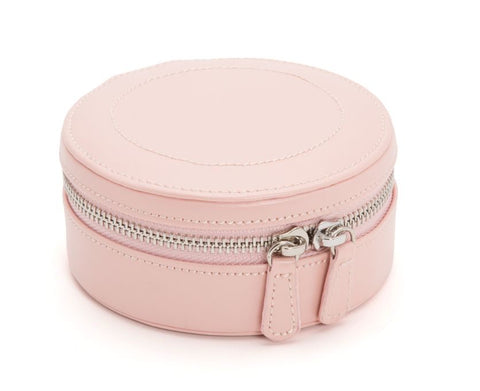 Wolf 1834 Sophia Round Case In Rose Quartz