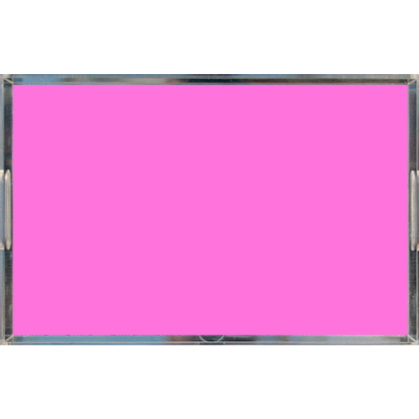 Neon Pink Acrylic Lucite Tray, Large