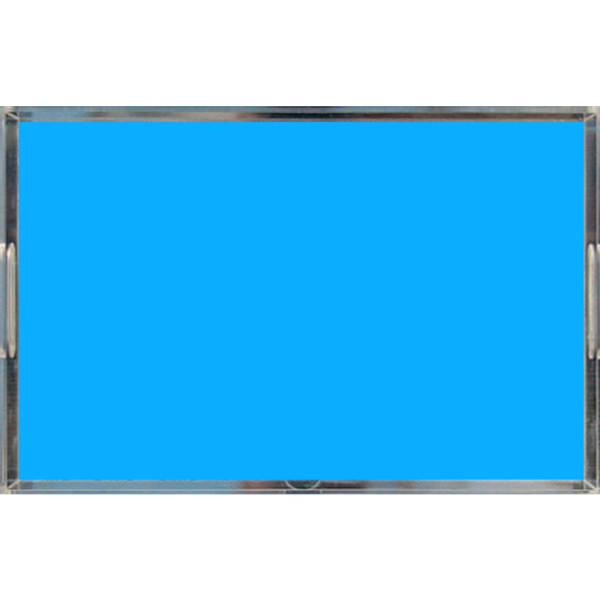 Neon Blue Acrylic Lucite Tray, Large