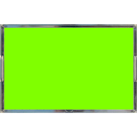 Neon Yellow Green Acrylic Tray, Large