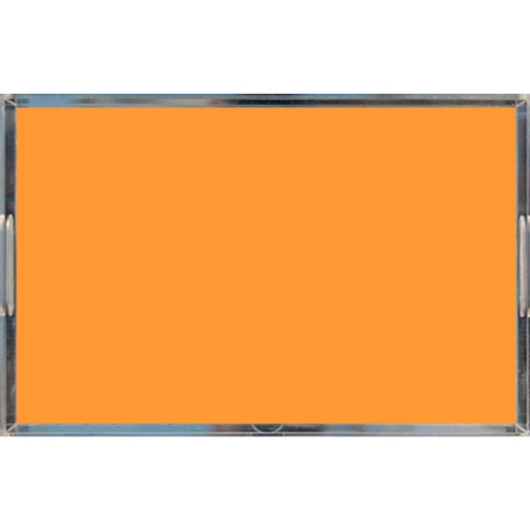 Neon Orange Acrylic Lucite Tray, Large