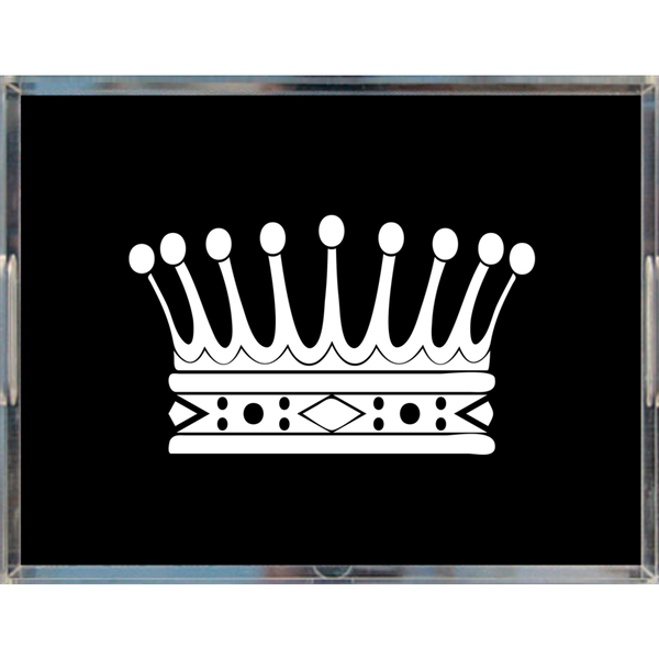 "Royal Crown Acrylic Tray 8.5"" x 11"", Black"