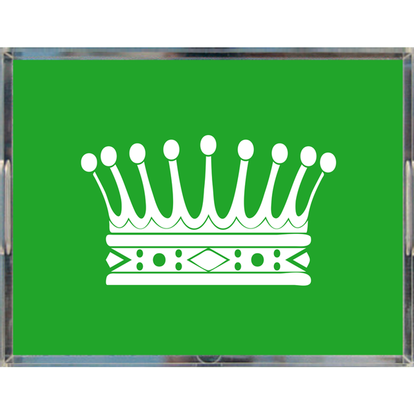 "Royal Crown Acrylic Tray 8.5"" x 11"", Green"