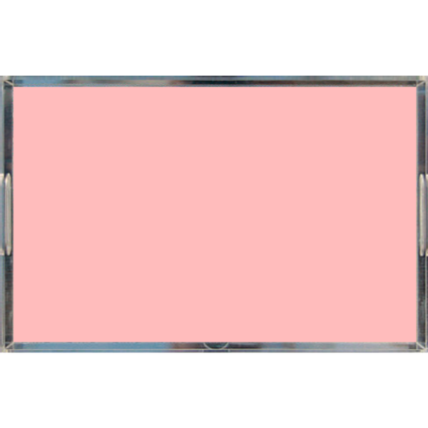 Blush Pink Pastel Acrylic Lucite Decorative Trays, 2 Sizes