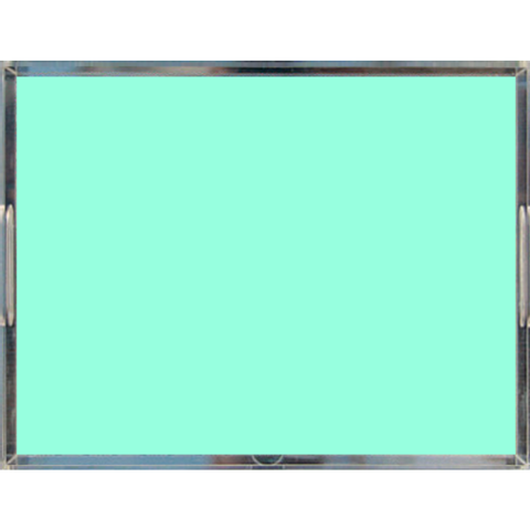 Mint Green Pastel Acrylic Lucite Trays, 2 Sizes