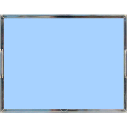 Powder Blue Pastel Acrylic Lucite Trays, 2 Sizes
