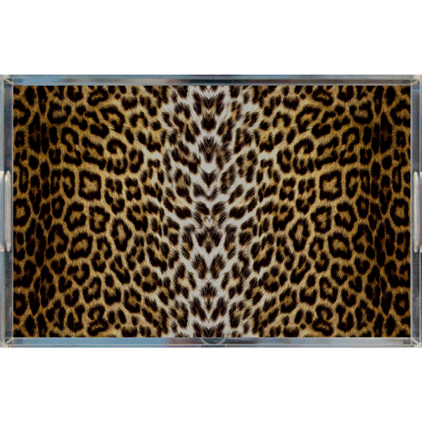 Leopard Print Decorative Tray