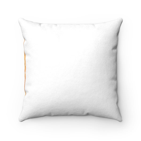 Modern Yellow-Orange Agate Slice Faux Suede Square Pillow, 3 Sizes