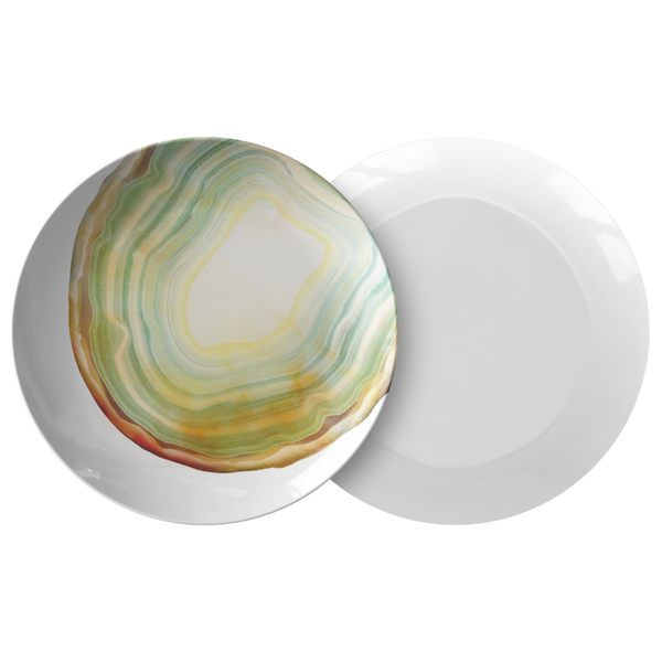 Light Green Agate Dinner Plate