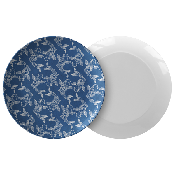 Koi Fish Plastic Dinner Plate