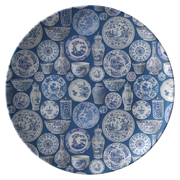 Chinoiserie Asian Pottery Print Plates