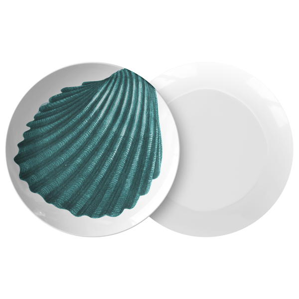 "Seashell Dinnerware, Cockle Shell 10"" Plastic Plate"