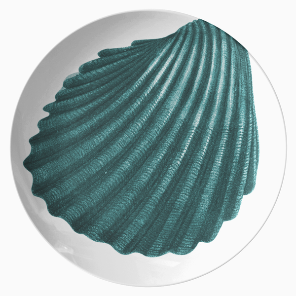 "Seashell Dinnerware, Cockle Shell 10"" Plate, ThermoSāf® Polymer"